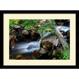 Andy Magee 'Mountain Stream' Framed Print Art
