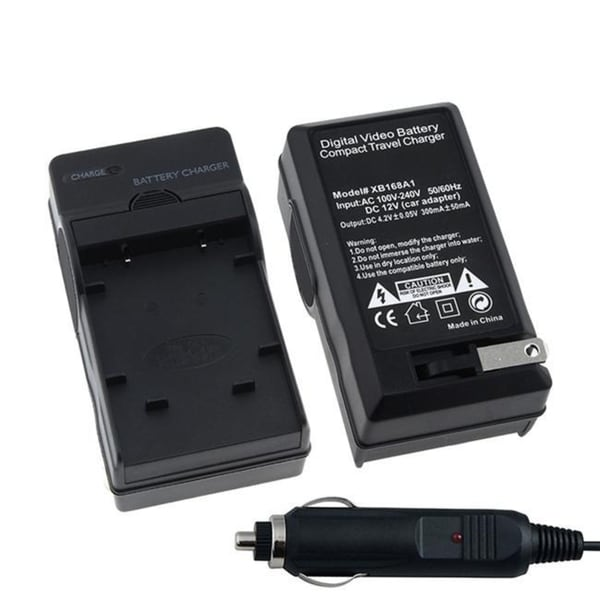 INSTEN Car and Travel Charger Set for Olympus LI-40B/ Nikon EN-EL10