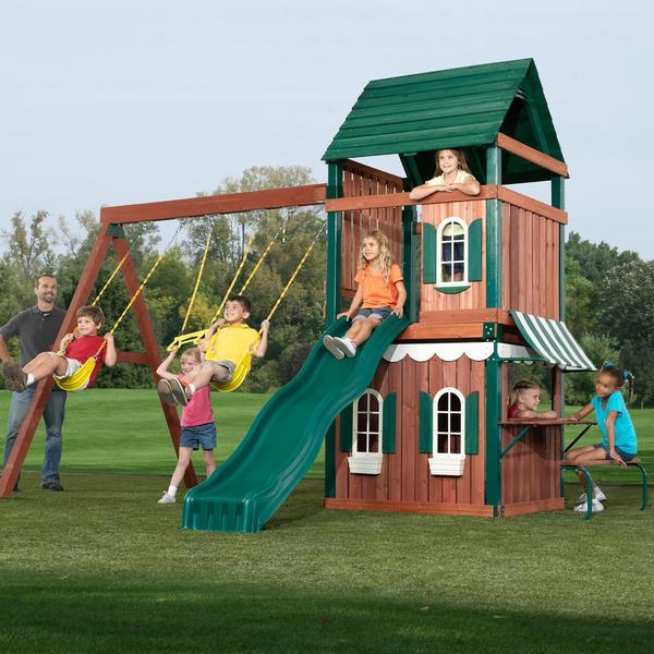 Swing-N-Slide Newport News Wood Complete Play Set