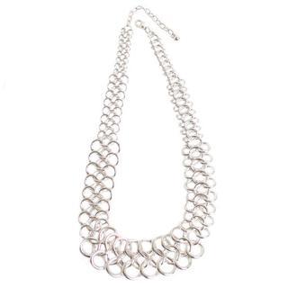 NEXTE Jewelry Silvertone Triple Row 'O' Chain Necklace