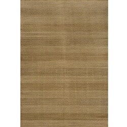 Illusion Beige Stripe Rug (9'3 x 12'6)