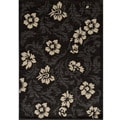 Dream Charcoal Leaves Rug (7'10 x 9'10)