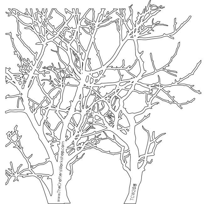 Crafter's Workshop Plastic Branches Template