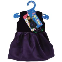 Springfield Collection Black Velvet and Purple Satin Dress