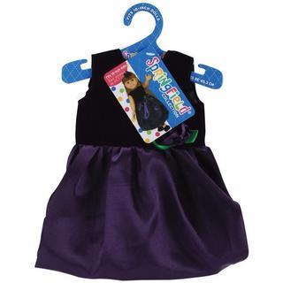 Springfield Collection Black Velvet and Purple Satin Dress