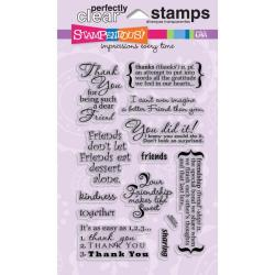 Stampendous Friendship Assortment Clear Stamps