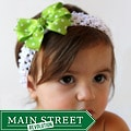 Apple Green Headband and Detachable Bow