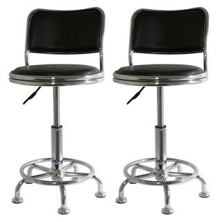 Black Shop Bar Stools (Set of 2)