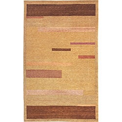 Hand-knotted 'Moments' Gold Wool Rug (6' x 9')