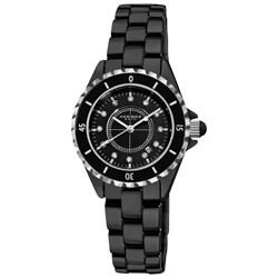 Akribos XXIV Quartz Date Ladies Ceramic Bracelet Watch