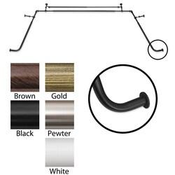 Bay Window 5/8-inch Diameter Double Curtain Rod Set