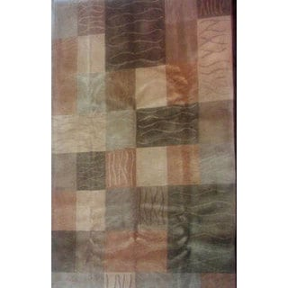 ABBYSON LIVINGHand-knotted 'Moments' Green Wool Rug (6' x 9')