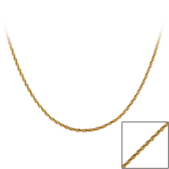 Mondevio Two-tone Silver 18-inch Diamond-cut Crisscross Chain Necklace