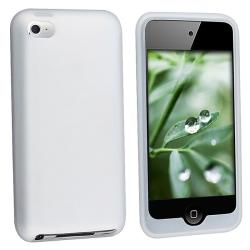 Clear/ White Silicone Case for Apple iPod touch 4th Gen
