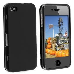 Rubber Coated Case with Cover for Apple iPhone 4