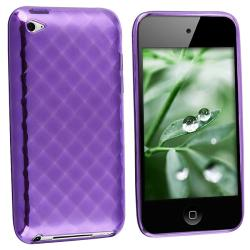 Purple Rhinestone TPU Case for Apple iPod touch 4th Gen