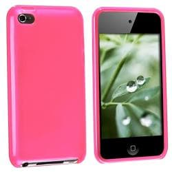 Hot Pink TPU Rubber Case for Apple iPod touch 4th Gen