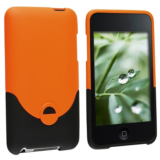 INSTEN Orange Rubber Coated iPod Case Cover Apple iPod touch 2nd/ 3rd Gen