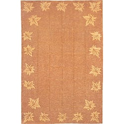 Hand-knotted Oceans of Time Himalayan Sheep Wool Rug (6' x 9')
