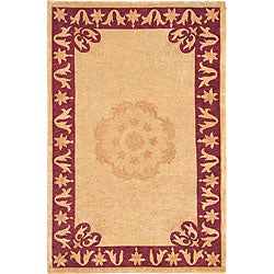Hand-Knotted Oceans of Time Wool Area Rug (6' x 9')