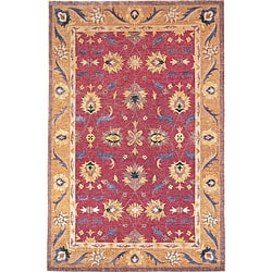 Hand-knotted 'Harvest Moon' Gold Wool Rug (2' x 3')