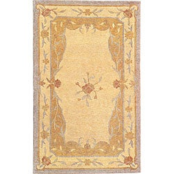 Hand-knotted Oceans of Time Wool Rug (6' x 9')