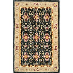 Hand-Knotted 'Harvest Moon' Gold Wool Geometric Rug (6' x 9')