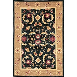 Hand-Knotted 'Harvest Moon' Gold Wool Oriental Rug (6' x 9')