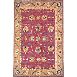 Hand-knotted 'Harvest Moon' Gold Wool Rug (6' x 9')