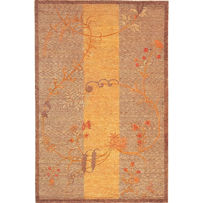 ABBYSON LIVING Hand-knotted 'Serenity' Wool and Silk Rug (6' x 9')
