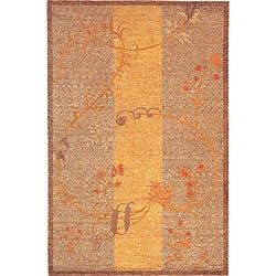 Hand-knotted 'Serenity' Wool and Silk Rug (6' x 9')
