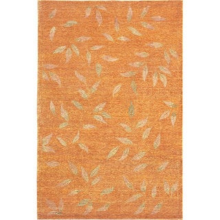 Hand Knotted 'Serenity' Wool and Silk Rug (6' x 9')
