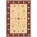 Hand-Knotted 'Heiress' Gold Wool Area Rug (6' x 9')