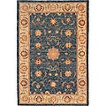 Hand-knotted 'Isabella' Himalayan Sheep Wool Rug (6' x 9')