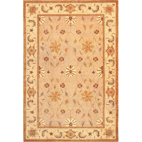 ABBYSON LIVING Hand-knotted 'Heiress' Himalayan Sheep Wool Area Rug (6' x 9')