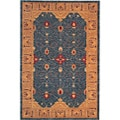 Hand-knotted 'Heiress' Himalayan Sheep Wool Rug (6' x 9')