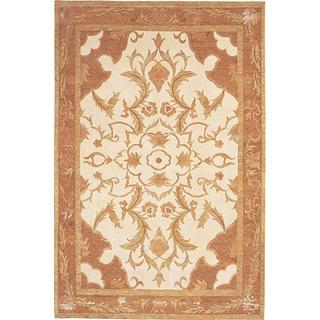 Hand-knotted 'Napa' Himalayan Sheep Wool and Silk Rug (6' x 9')