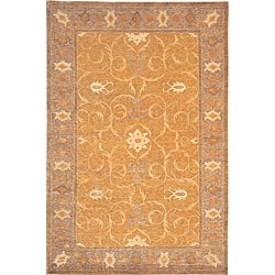 Hand-knotted 'Heiress' Himalayan Sheep Wool and Silk Rug (6' x 9')