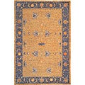 Hand-knotted 'Heiress' Gold Wool Rug (6' x 9')
