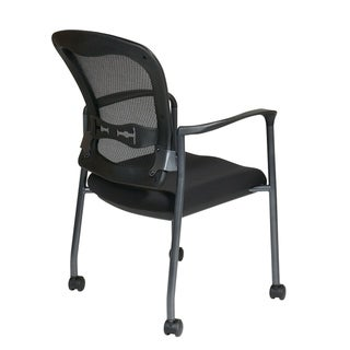 Visitors Chair with Breathable Back with Built-in Lumbar Support