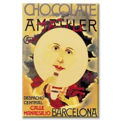 'Chocolate Amatller: Barcelona (Moon)' Canvas Art
