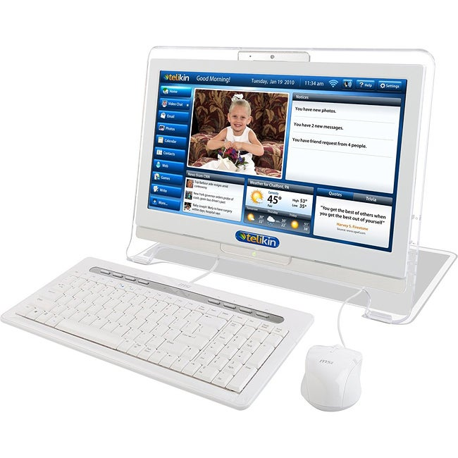 Telikin TLMS18T3202W All-in-One Computer - 1.80 GHz - Desktop - White