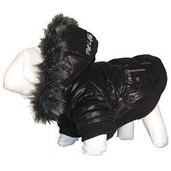 Pet Life Thinsulate Metallic Parka Dog Coat Jacket with Removable Hood