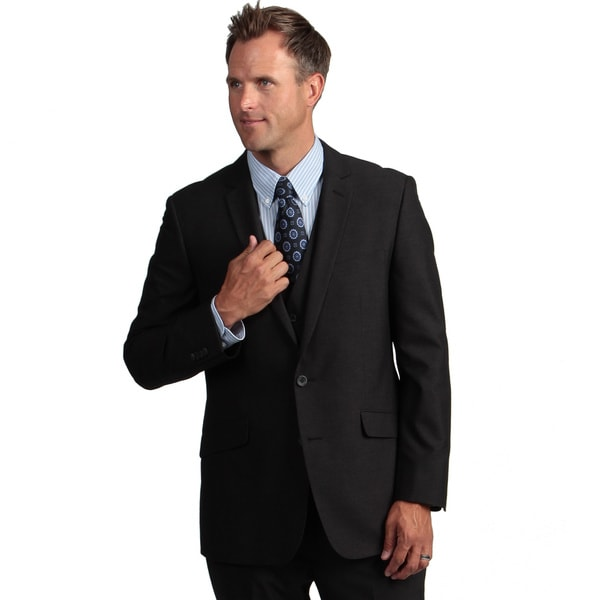 Kenneth Cole Reaction Men's Slim-fit Charcoal Stripe Suit Separate Coat
