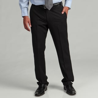 Kenneth Cole Reaction Men's Slim-fit Black Stripe Flat-front Suit Separate Pant