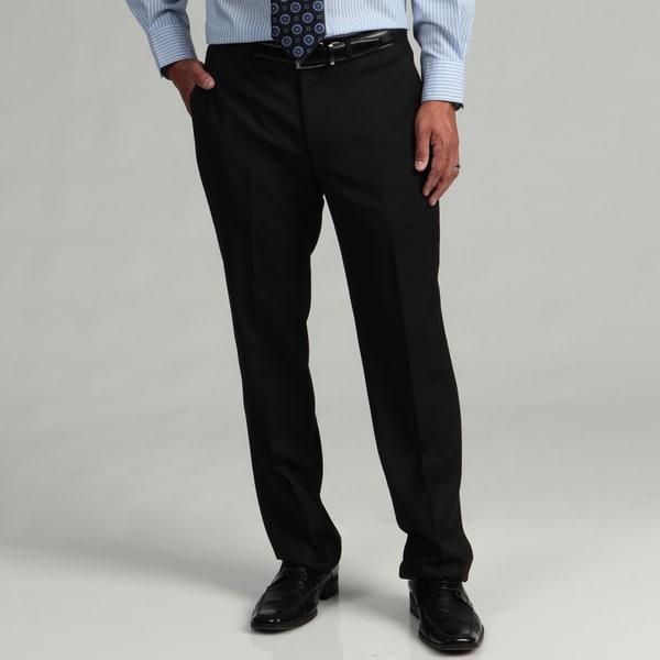 Kenneth Cole Reaction Men's Slim Fit Black Tic Flat Front Suit Separate Pant