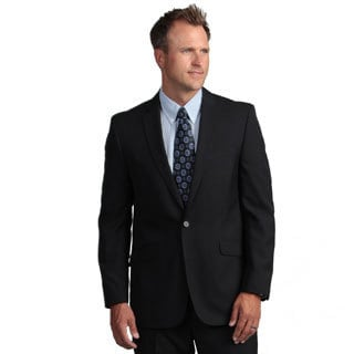 Kenneth Cole Reaction Men's Slim-Fit Navy Mini-Stripe Suit Separate Coat