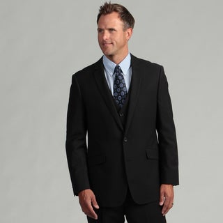 Kenneth Cole Reaction Men's Slim Fit Black Tic Suit Separate Coat