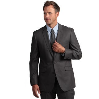 Kenneth Cole Reaction Men's Slim-fit Grey Suit Separate Coat