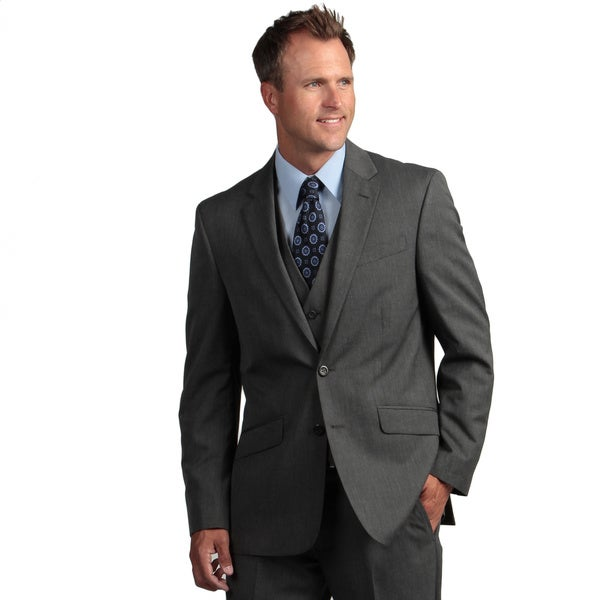 Kenneth Cole Reaction Men's Slim-fit Black and White Suit Separate Coat